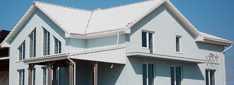 Cool White Energy Efficient Roof