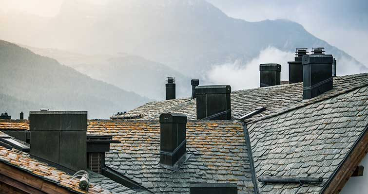 what are the masonry chimneys